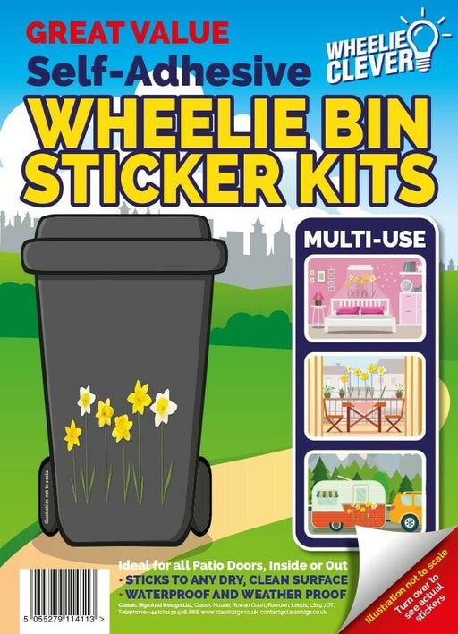 Daffodil Wheelie Bin Sticker Kit