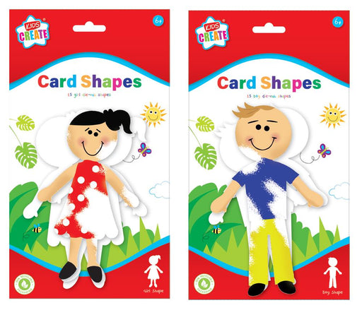 15 Cards Shapes boy/girl