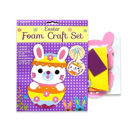 Cheeky Easter Bunny or Chick Foam Friends Craft Kit