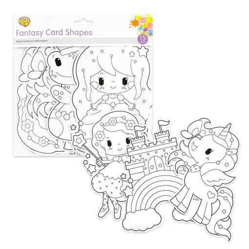 Fantasy Figures Pack 15 Colour In Card Shapes