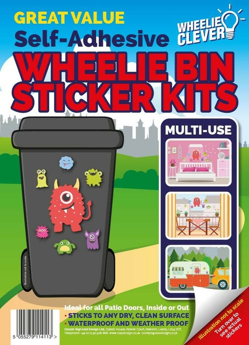 Monster Wheelie Bin Sticker Kit