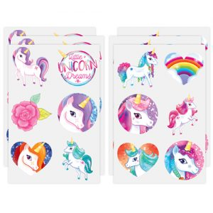 Unicorn Tattoo Sheets(Each Sheet Contains 6 Tattoos)