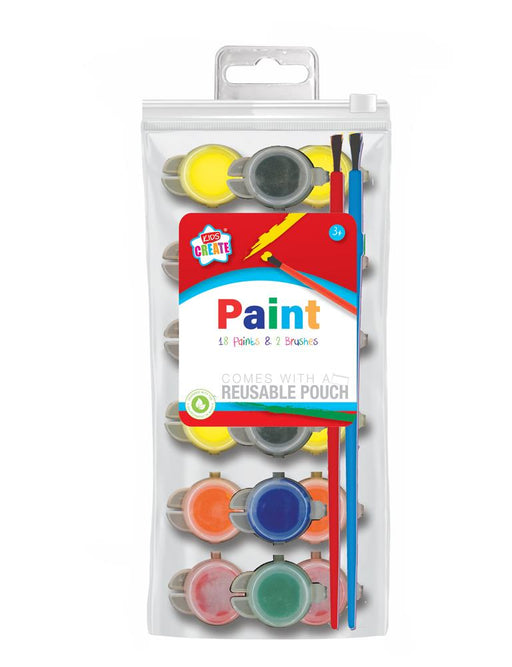 18 Poster Paints & Brushes