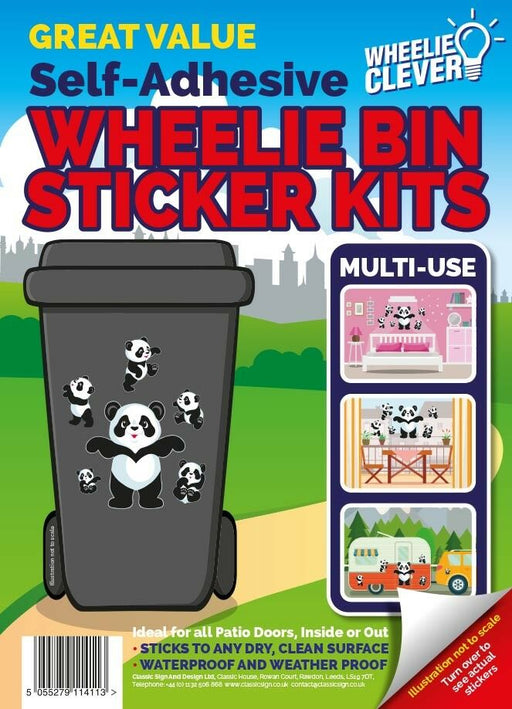 Panda Wheelie Bin Sticker Kit