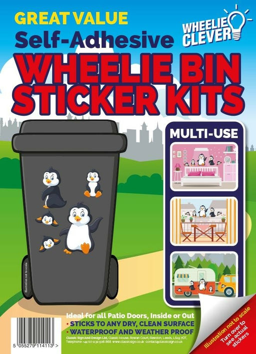 Penguin Wheelie Bin Sticker Kit