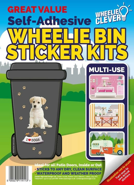 Puppy Wheelie Bin Sticker Kit