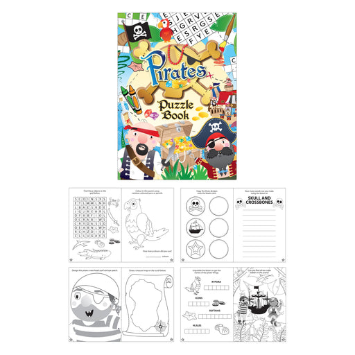 Pirate Themed Fun Puzzle Book