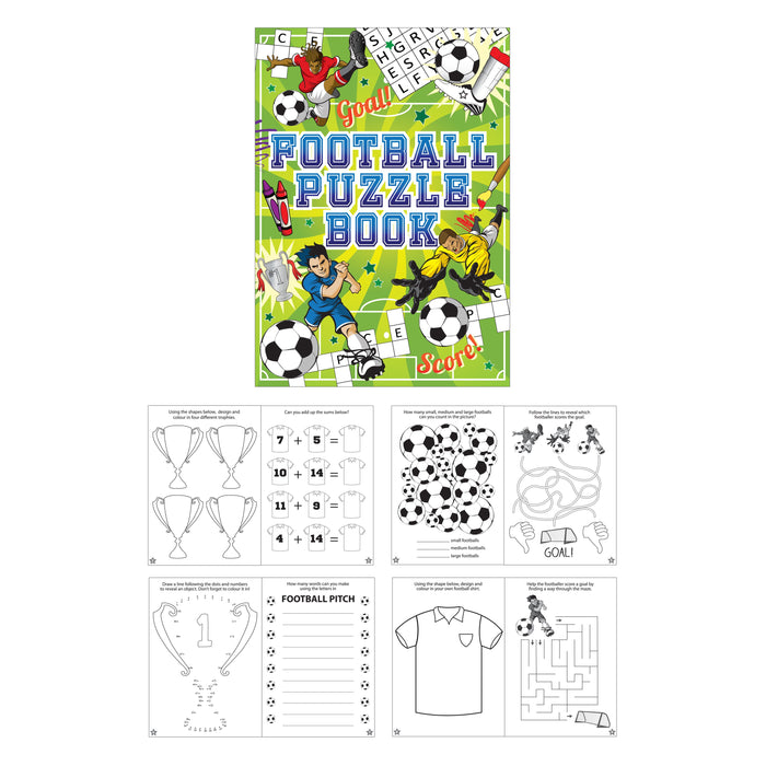 Football Themed Fun Puzzle Book