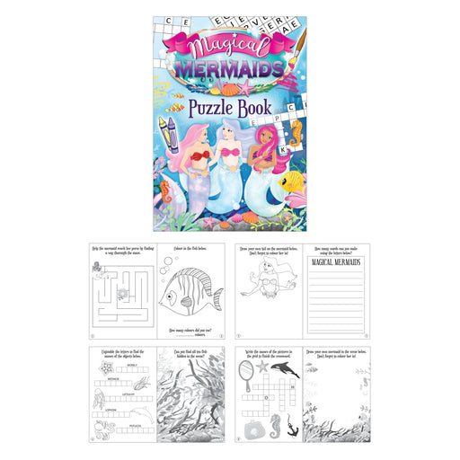 Mermaid Themed Fun Puzzle Book