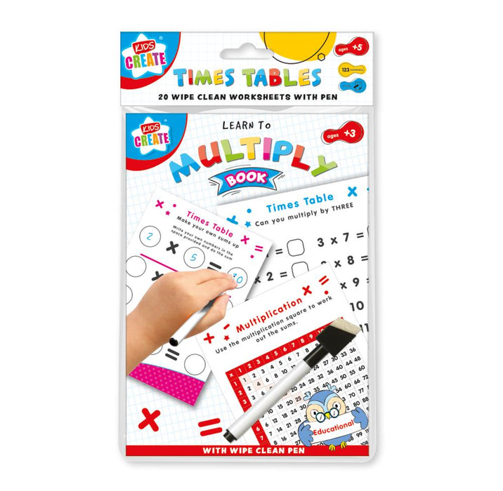 Times Table Wipe Clean Book
