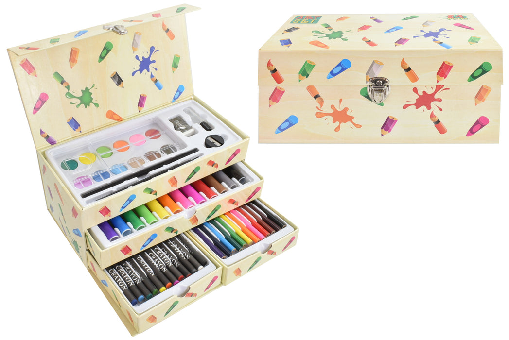 Art Set In Carry Box 54 Piece