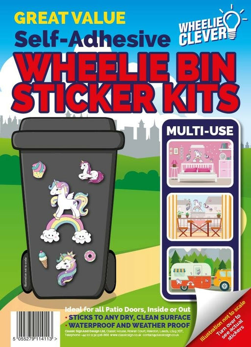 Unicorn Wheelie Bin Sticker Kit