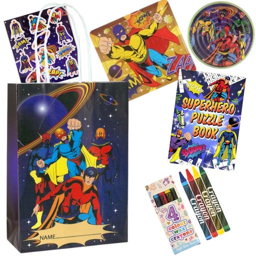 Superhero Pre-packed Party Bags