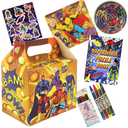 Superhero Pre-packed Lunchbox