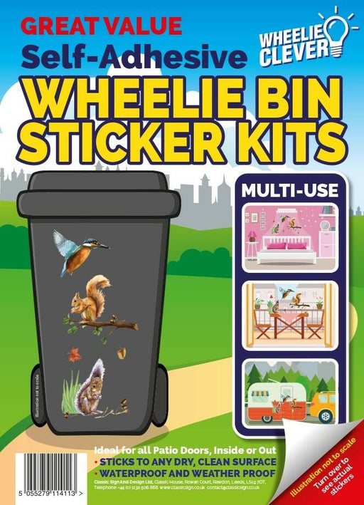 Woodland Wheelie Bin Sticker Kit