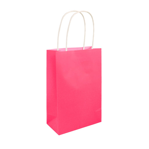 Party Bags Neon Pink With Handles
