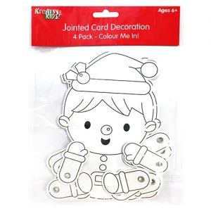 Christmas Colour In Jointed Elf 4 Pack