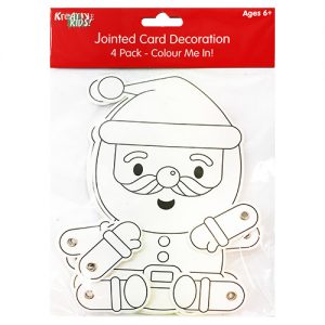 Christmas Colour In Jointed Santa 4 Pack