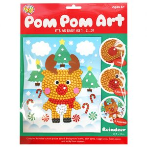 Christmas Reindeer Pom Pom Craft Kit