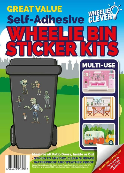 Zombie Wheelie Bin Sticker Kit