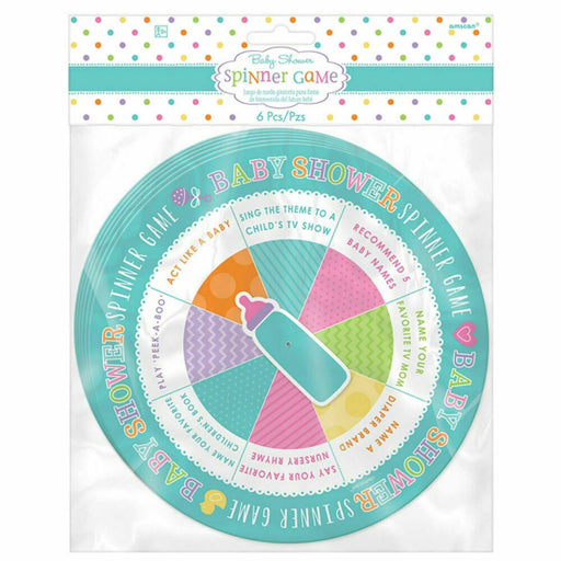 6 Baby Shower Spinner Game
