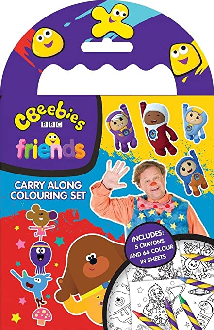 Cbeebies Friends Carry Along Colouring Set