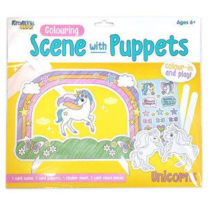 Mega Unicorn Colouring Puppet Scene Kit