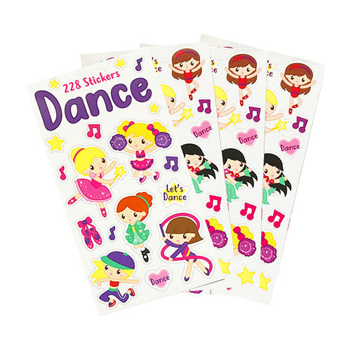 Dance Mini Sticker Book (12 Sheets)
