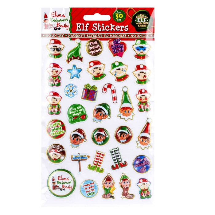 Elf Puffy Bubble Stickers 30 Pack