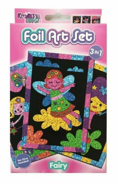 3 Pack Fairy Foil Art Kit