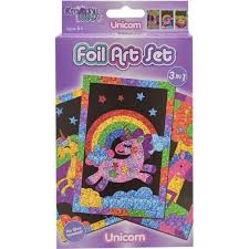 3 Pack Unicorn Foil Art Craft Kit