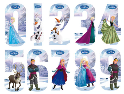 Disney Princess Frozen Number Stickers