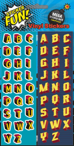 Fun Vinyl Stickers Alphabet