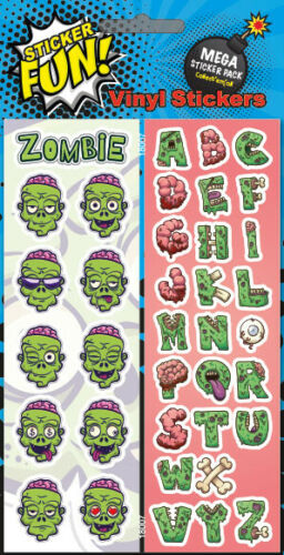 Fun Vinyl Stickers Zombies