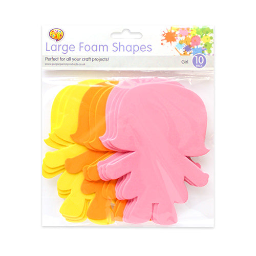 Girl Shaped Foam Shapes x 10