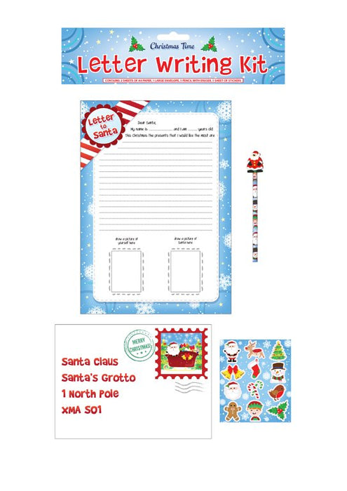 Christmas Santa Letter Writing Kit (5 Pieces)
