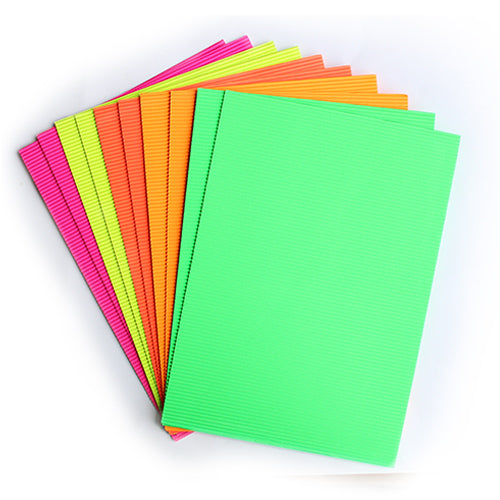 Neon Corrugated Sheets A4 Size x 10