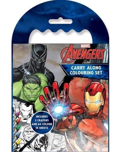 Marvel Avengers Carry Along Colouring Set