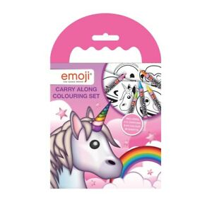 Unicorn Emoji Carry Along Colouring Set