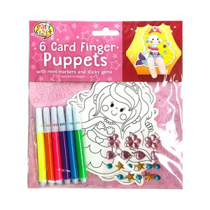 Finger Puppets Mermaid 6 Cards