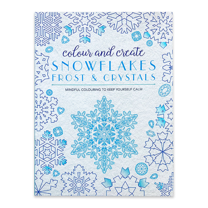 Colour And Create Snowflakes Complex Colouring