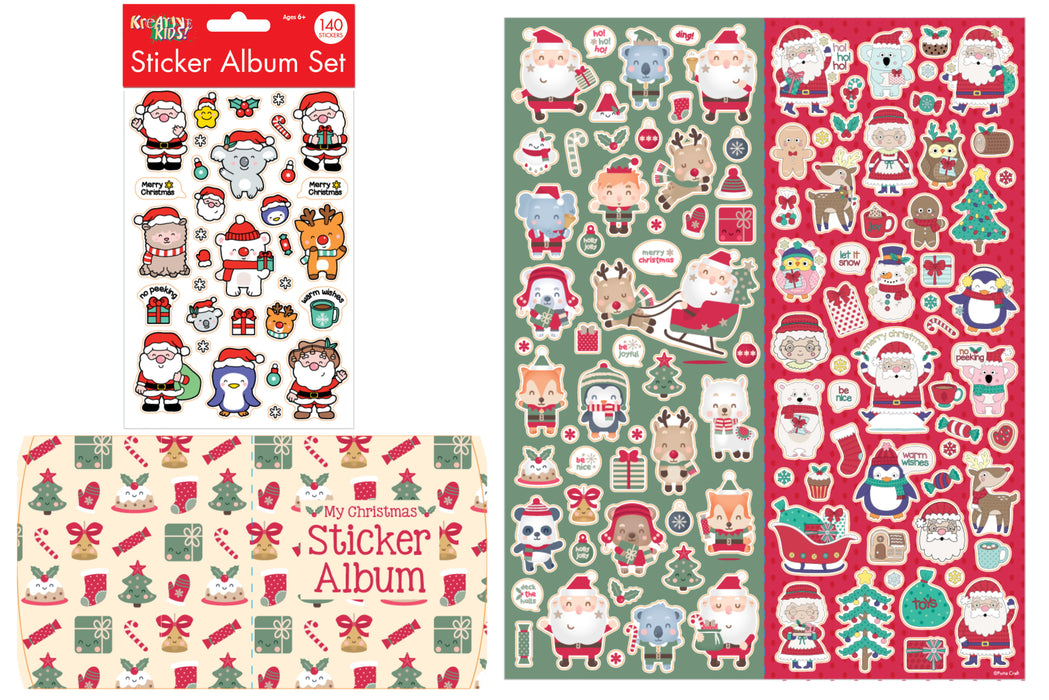 Christmas Sticker Album Set