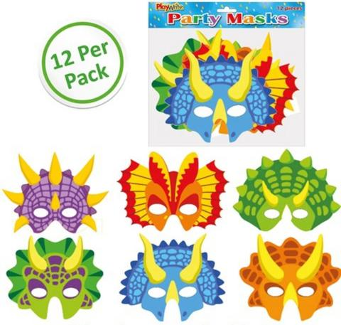 Dinosaur Masks 12 Pack
