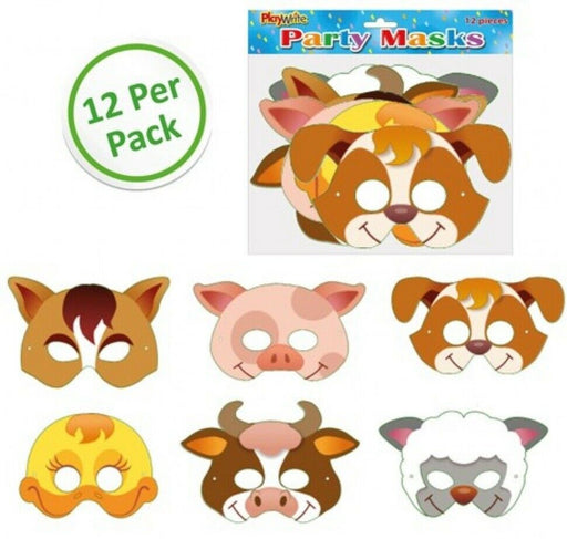 Farm Animal Masks 12 Pack