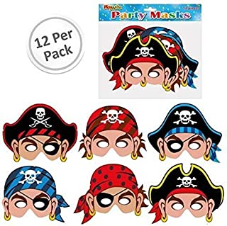 Pirate Masks 12 Pack