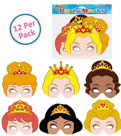 Princess Masks 12 Pack