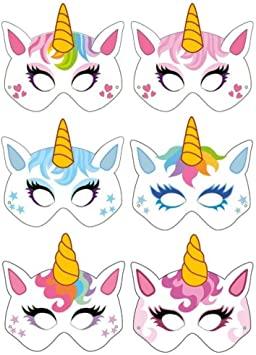 Unicorn Masks 6 Pack