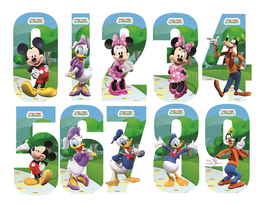 Disney Micky Mouse Number Stickers