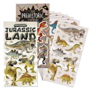 Dinosaur Mini Stickers Book (12 Sheets)