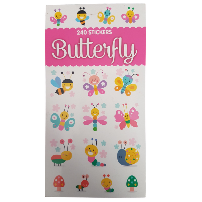 Butterfly Mini Sticker Book 12 Sheets